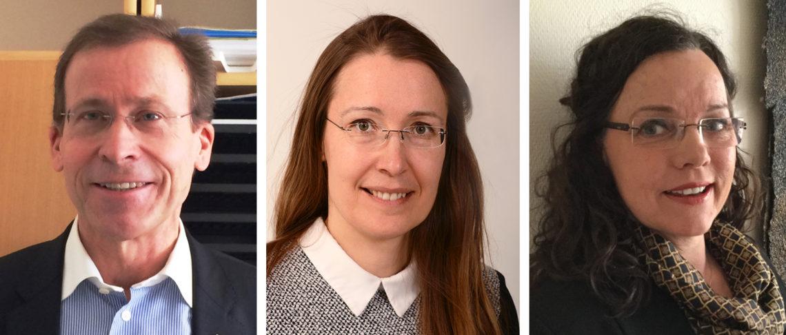 Lennart Christiansson, medicinalråd på Socialstyrelsen, Elina Rönnemaa, utredare på Läkemedelsverket och Ann Berntsdotter, koordinator på Försäkringskassan.