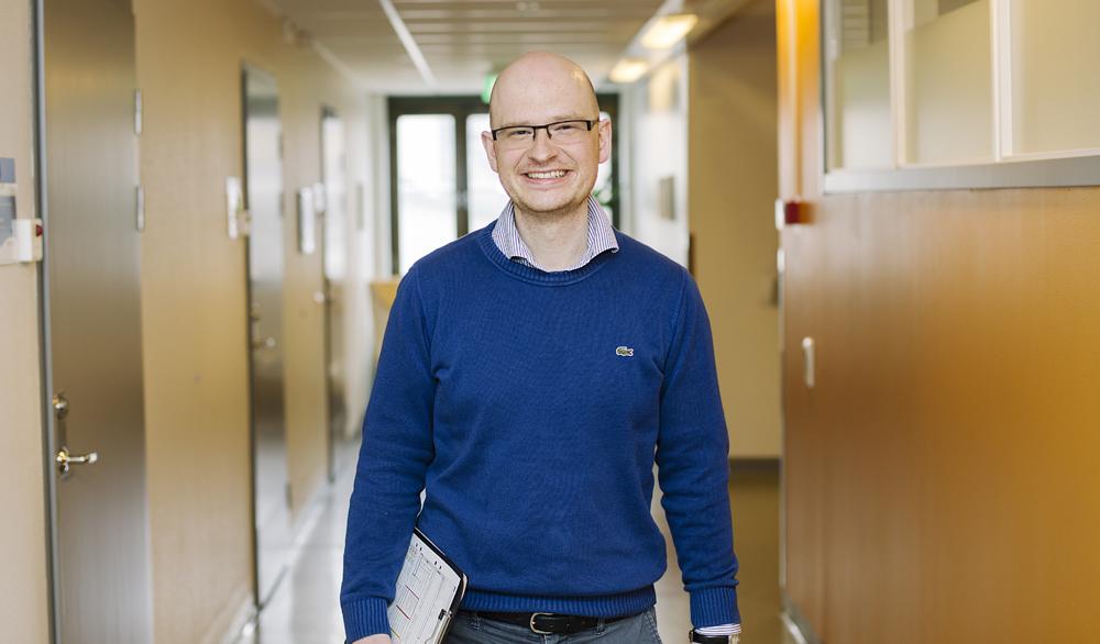 Jesper Björnehall, ST-läkare på den psykiatriska kliniken vid universitetssjukhuset i Umeå. Foto: EdelPhoto