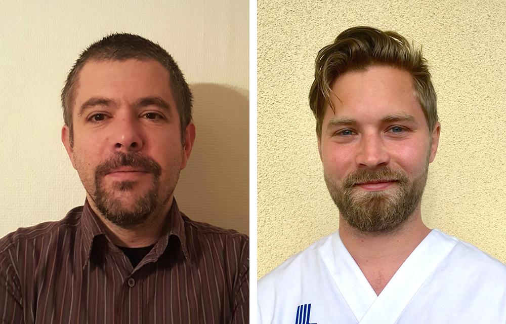 Giannis Delipalas, specialistläkare i psykiatri som arbetar för Rent a Doctor och Oscar Ljungberg, hyrläkare för Dedicare Doctor.