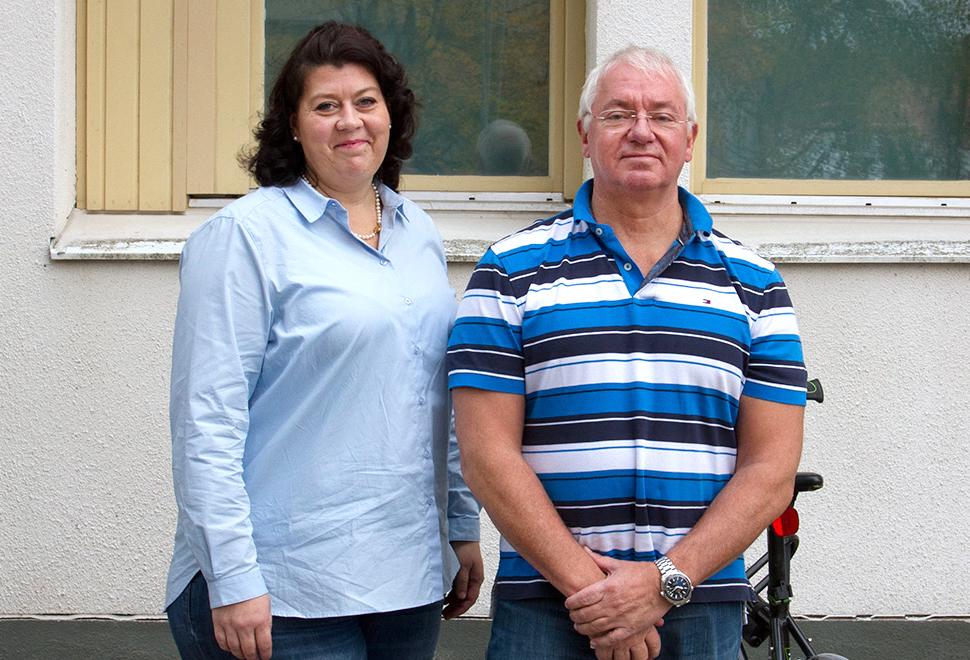 Marie Hallberg, vårdenhetschef på psykosmottagningen på Mälarsjukhuset i Eskilstuna och Stefan Sparring, verksamhetschef för psykiatrin i Sörmland. Foto: Göran Strandsten