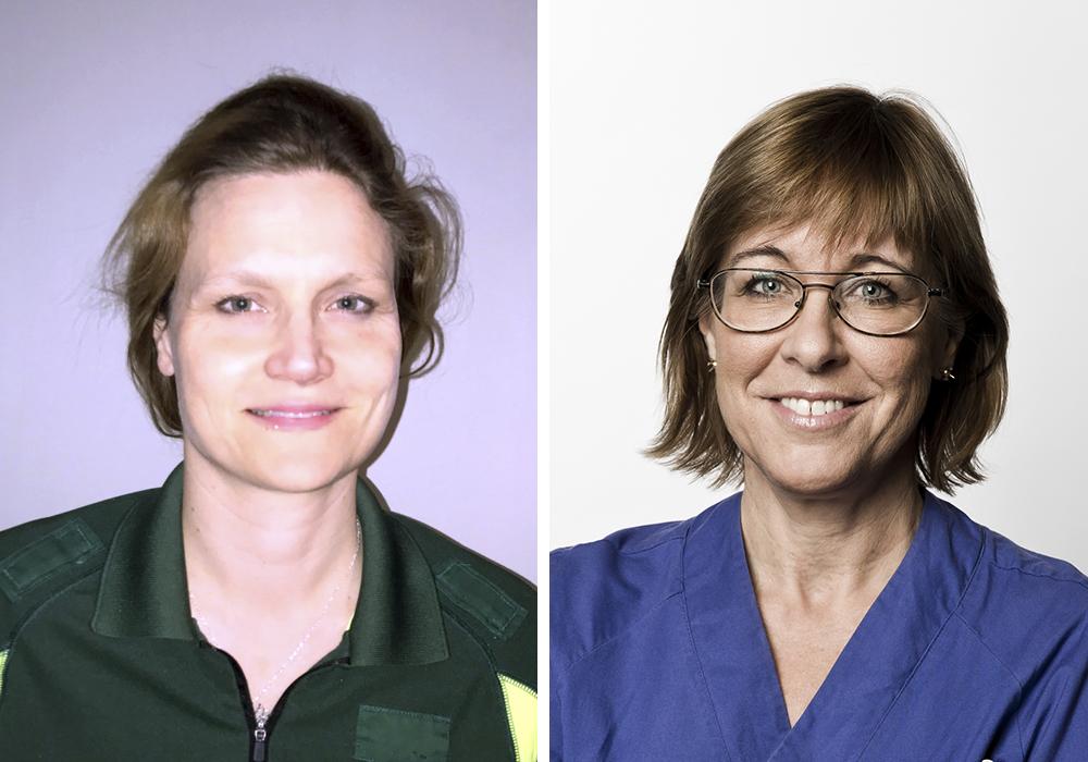 Katrin Hruska, ordförande i Svensk Förening för Akutsjukvård – Swesem och Karin Båtelson, ordförande i Läkarförbundets Vårdplatsgrupp VÅG (Foto: Rickard Eriksson)