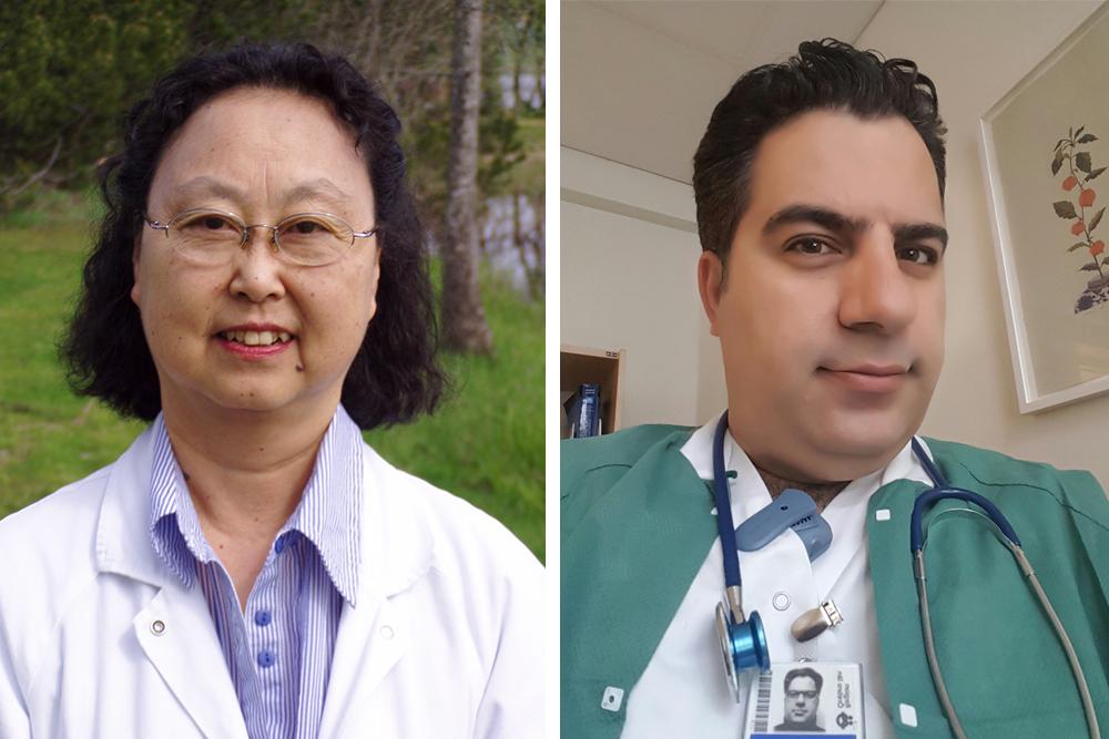 XiaoHui Shen, specialistläkare i allmänmedicin och resursläkare för Sverek och Mahmoud Almohtasib,  resursläkare för Dedicare.