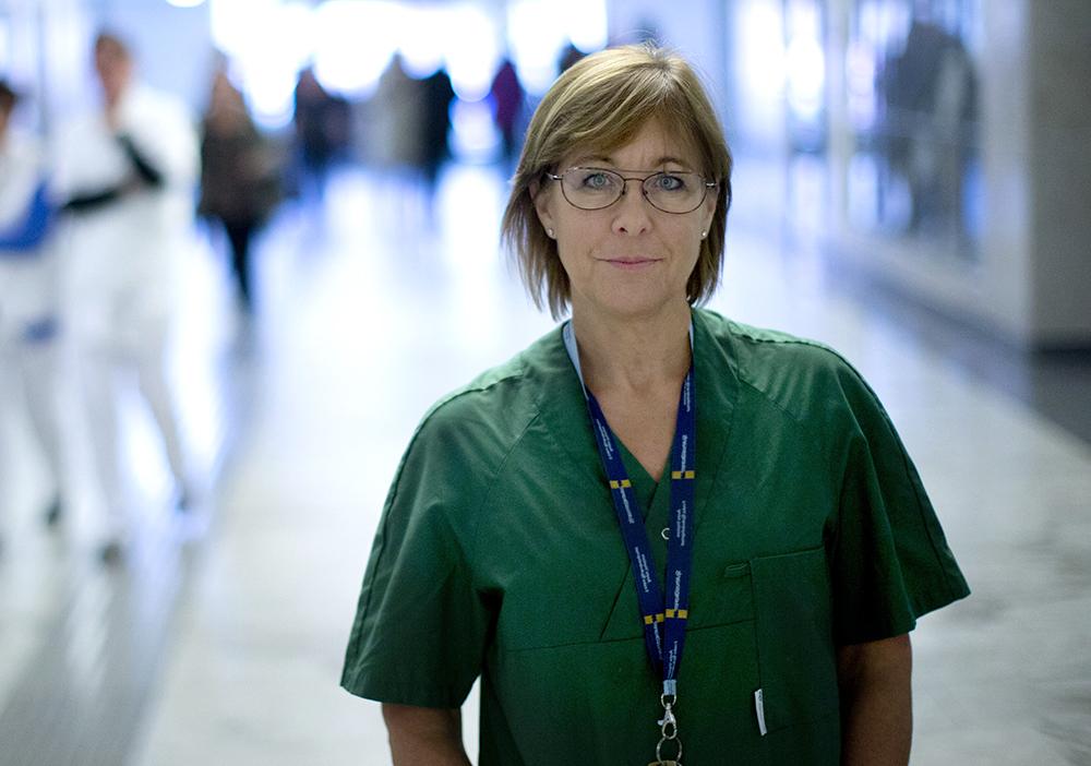 Karin Båtelson, ordförande i Sjukhusläkarna och 1:e vice ordförande i Läkarförbundet. Foto: Björn Larsson Rosvall / TT