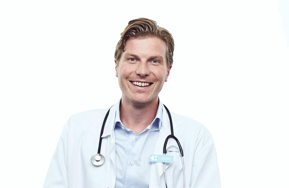 Johan Flodin, medicinskt ansvarig läkare på Kry.