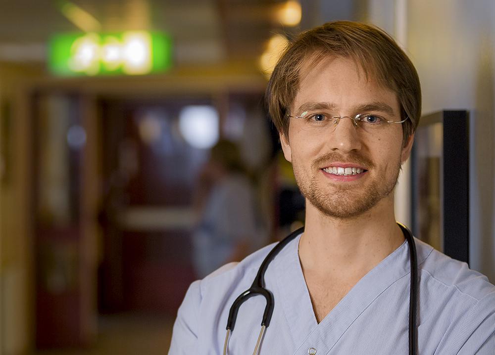 Karl Wallander, ST-läkare på Edsbyns hälsocentral. Foto: Johan Löf