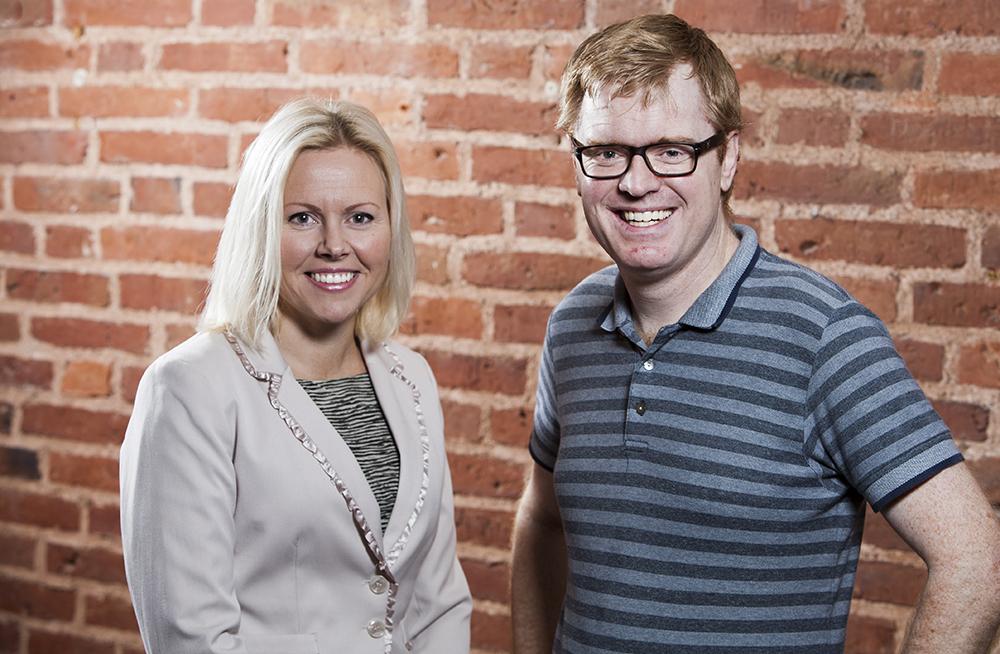 Camilla Kanckos, specialist i internmedicin och Per Holmdahl, specialist i ortopedi. Foto: Patrik Bergenstav