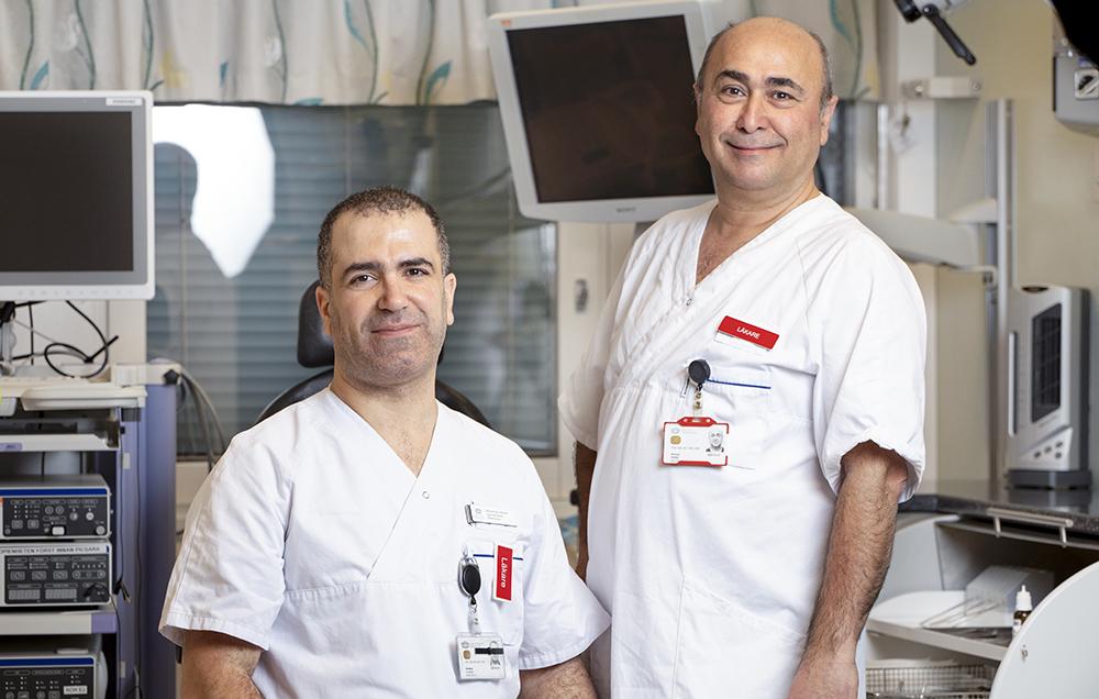 Mohammad Alshalak, ÖNH-specialist, och Ghassan Haddad, läkarchef på Mälarsjukhuset i Eskilstuna. Foto: Emelie Otterbeck