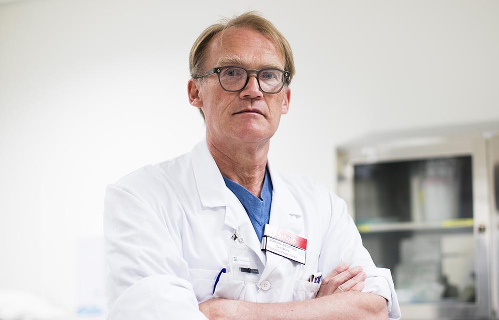 Johan Styrud, ordförande i Stockholms läkarförening och överläkare i kirurgi vid Danderyds sjukhus. Foto: Andreas L Eriksson / Bildbyrån