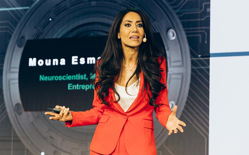 Läkaren Mouna Esmaeilzadeh är också entreprenör och föreläsare och syns ofta i TV4.