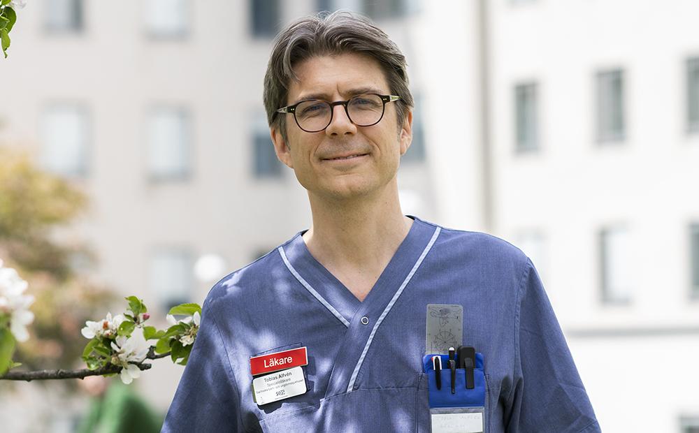 Tobias Alfvén, ordförande Svenska Läkaresällskapet. Foto: Johan Adelgren, Södersjukhuset