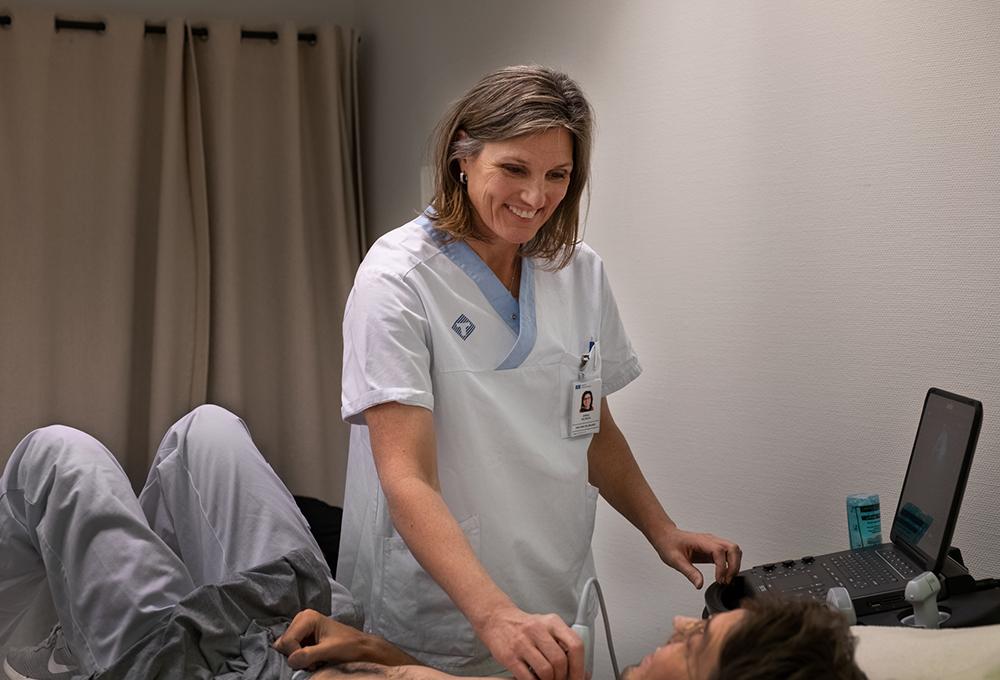 Erika Nilsson, distriktsläkare på Robertsfors hälsocentral.