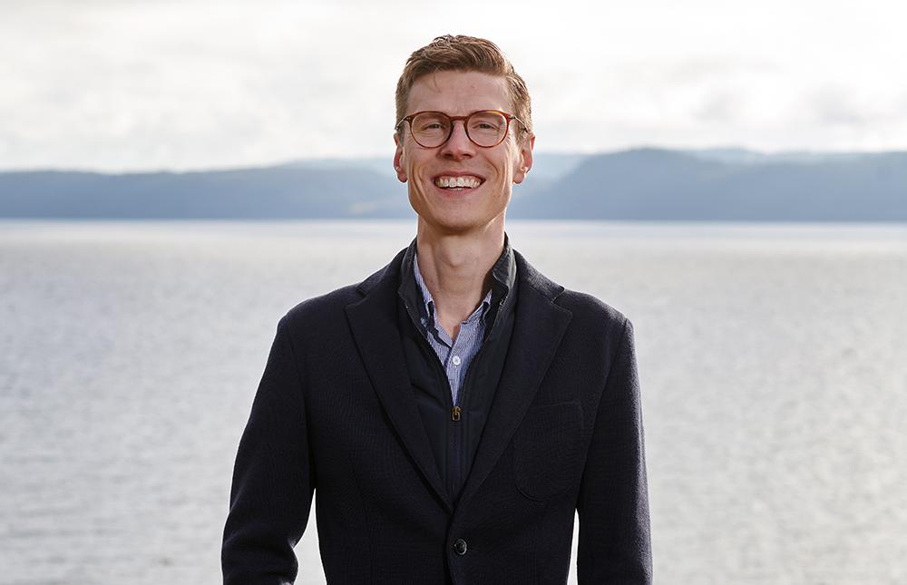 David Juhlin, studieläkare inom Respiratory and Immunology på AstraZeneca. Foto: Tommy Hvitfeldt