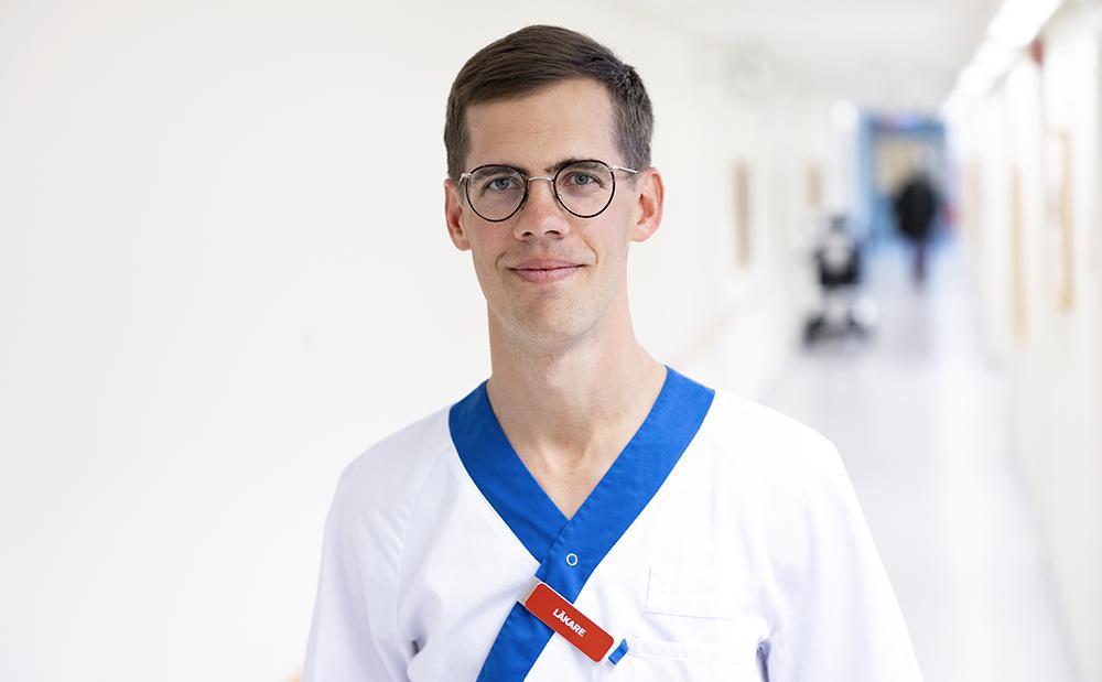 David Gyll, ST-läkare i allmänmedicin på Svartbäckens vårdcentral i Uppsala. Foto: Mikael Wallerstedt